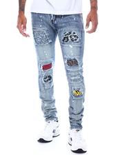 Jeans - VINTAGE BLEACH WASH Jean w Animal Patch Detail-2505546