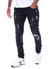 BLVCK - DISTRESSED MOTO JEAN-2506142