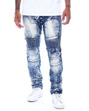 Jeans - Distressed Faded Moto Jean-2506505