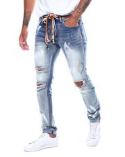 KDNK - PAINT SPLATTER SKINNY JEANS WITH MULTI-COLOR DRAWSTRINGS-2506745