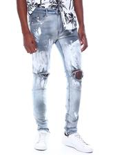 KDNK - SILVER PAINTED ANKLE ZIP JEANS-2507000