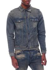 Crysp - HUDSON SAND WASH  DENIM JACKET-2507123