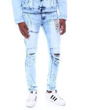 Jeans - RIPPED JEANS W COLOR SPLATTER PAINT-2507048