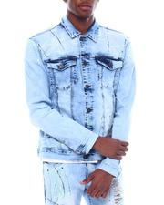 Denim Jackets - PAINT SPLATTER DENIM JACKET-2507134