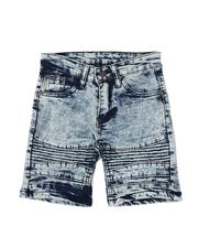 Arcade Styles - Crinkled Cut & Sew Moto Stretch Denim Shorts (4-7)-2507751