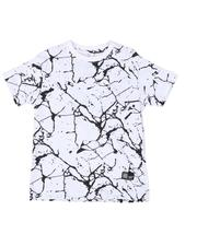 Tops - Marble Print Crew Neck T-Shirt (4-7)-2507785