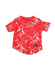 Arcade Styles - Marble Print Crew Neck T-Shirt (2T-4T)-2507798