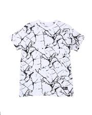 Tops - Marble Print Crew Neck T-Shirt (8-20)-2507957