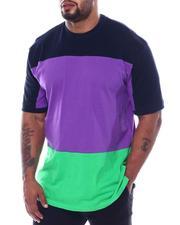 Big & Tall - Three Stripe Color Block Crew T-Shirt (B&T)-2509135