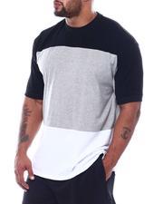 Men - Three Stripe Color Block Crew T-Shirt (B&T)-2508976