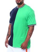 Big & Tall - Two Tone Split Crew T-Shirt (B&T)-2509035