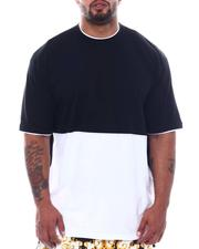 Men - 2 Tone Color Block Crew T-Shirt (B&T)-2508799