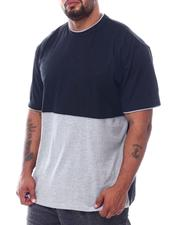 Men - 2 Tone Color Block Crew T-Shirt (B&T)-2508804