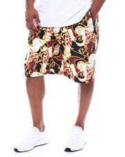 Men - Baroque Filigree Printed Scuba Shorts (B&T)-2508995