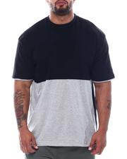 Men - 2 Tone Color Block Crew T-Shirt (B&T)-2509060