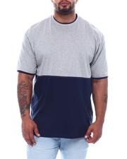 Short-Sleeve - 2 Tone Color Block Crew T-Shirt (B&T)-2508774