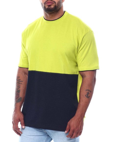 Buyers Picks - 2 Tone Color Block Crew T-Shirt (B&T)