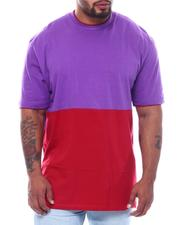 Short-Sleeve - 2 Tone Color Block Crew T-Shirt (B&T)-2509160