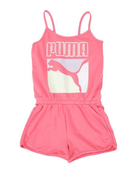 Puma - Stay Bold Pack French Terry Romper (4-6X)