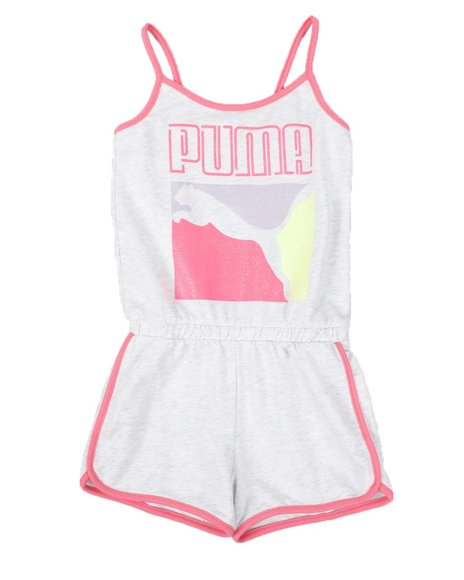 Puma - Stay Bold Pack French Terry Romper (7-16)