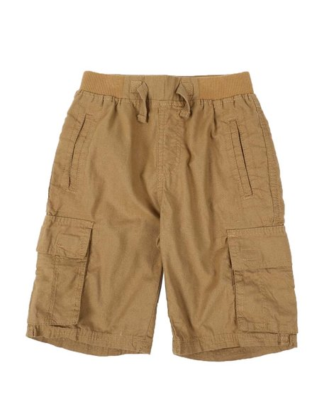 Arcade Styles - Washed Twill Jogger Cargo Shorts W/ Rib Waistband (8-18)
