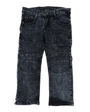 Jeans - Washed Stretch Moto Denim Jeans (4-7)-2508400