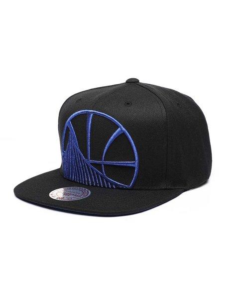 Mitchell & Ness - Golden State Warriors Metallic Cropped Snapback Hat