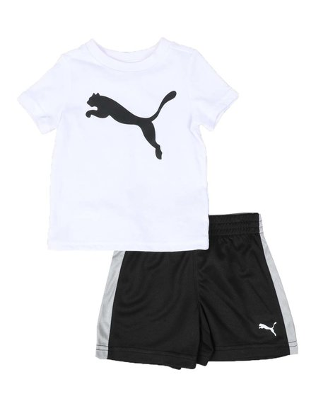 Puma - 2 Pc Graphic Tee & Mesh Shorts Set (Infant)