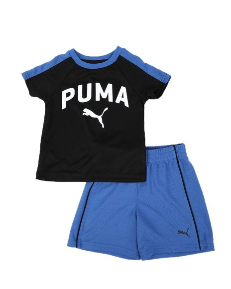 Puma - 2 Pc Performance Logo Tee & Shorts Set (Infant)