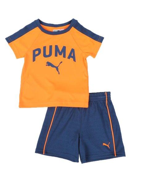 Puma - 2 Pc Performance Logo Tee & Shorts Set (Infant)