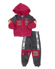 Girls - 2 Pc Sassy Girl Color Block Zip Front Hoodie & Jogger Pants Set (4-7)-2508500