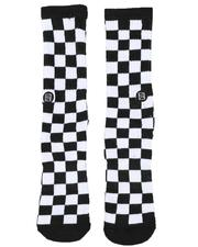 Men - Checkerboard Socks-2509219