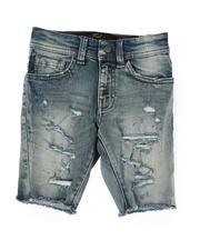 Jordan Craig - Destructed Raw Edge Denim Shorts (2T-10)-2509533