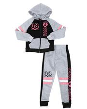 La Galleria - 2 Pc 08 Cute Zip Front Hoodie & Jogger Pants Set (7-16)-2508476