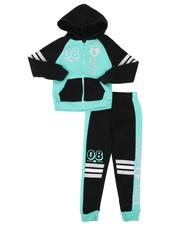 Girls - 2 Pc 08 Cute Zip Front Hoodie & Jogger Pants Set (4-6X)-2508484