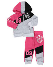 Girls - 2 Pc Love 09 Zip Front Hoodie & Jogger Pants Set (Infant)-2508516