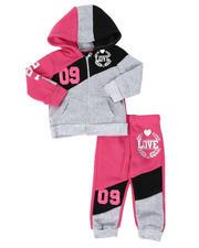 La Galleria - 2 Pc Love 09 Zip Front Hoodie & Jogger Pants Set (Infant)-2508516