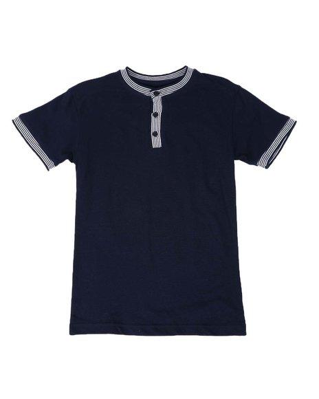 SASCO - Pique Contrast Trim Henley Shirt (8-18)