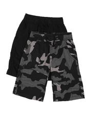 Shorts - 2 Pack Pull On Twill Camo & Solid Shorts (4-7)-2509336