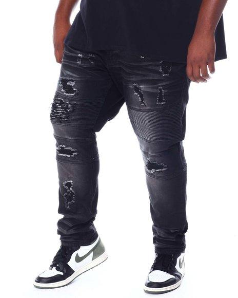 Makobi - Coated Biker Jeans (B&T)