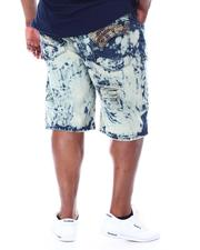 Big & Tall - Acid Treatment Stoned Denim Shorts (B&T)-2509847