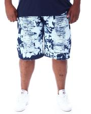 Shorts - Acid Treatment Stoned Denim Shorts (B&T)-2509854