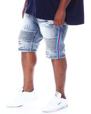 Big & Tall - Biker Shorts With Side Tape (B&T)-2510297