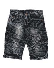 Sizes 8-20 - Big Kids - Washed Stretch Moto Denim Shorts (8-18)-2509755