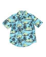 Buffalo - Palm Tree Print Twill Button Down Shirt (4-7)-2509961