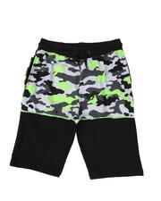 Sizes 8-20 - Big Kids - Color Block Camo Shorts (8-18)-2509997