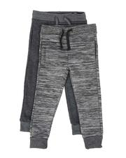 Sweatpants - 2 Pack Marled & Solid Fleece Jogger Pants (8-18)-2509887