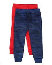 Boys - 2 Pack Marled & Solid Fleece Jogger Pants (8-18)-2509935
