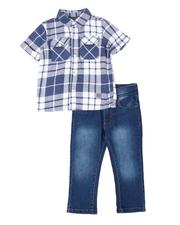 Buffalo - 2 Pc Plaid Button Down Shirt & Jeans Set (2T-4T)-2510123