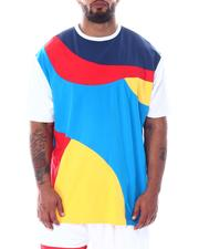 Big & Tall - Abstract Colorblock Contrast Tee (B&T)-2512019